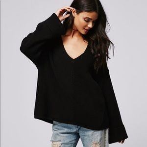 Free People La Brea V-Neck Sweater